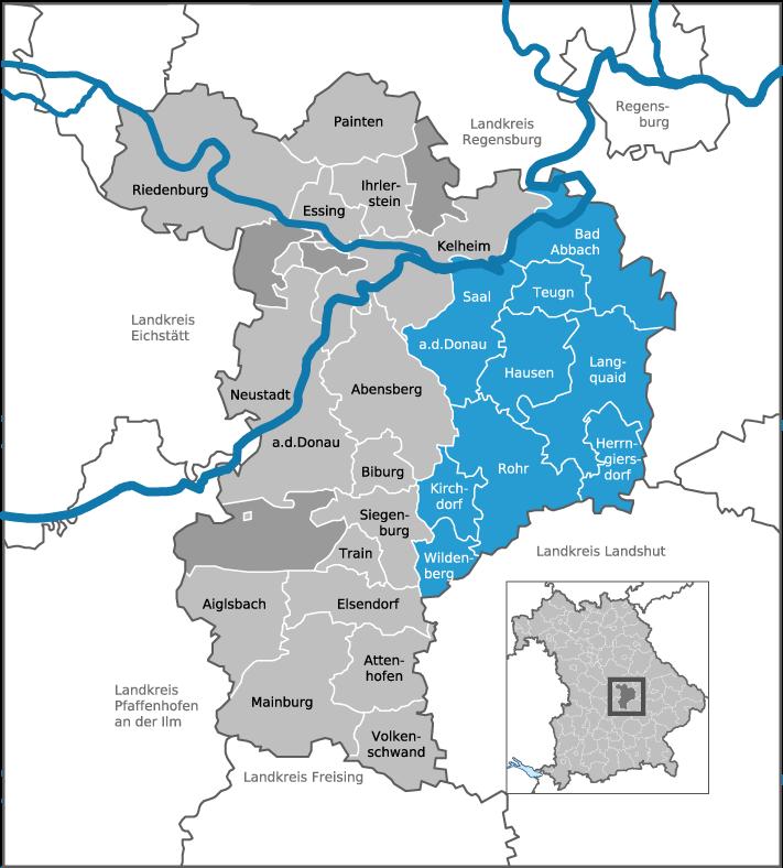 Gemeinden der ILE Donau-Laber